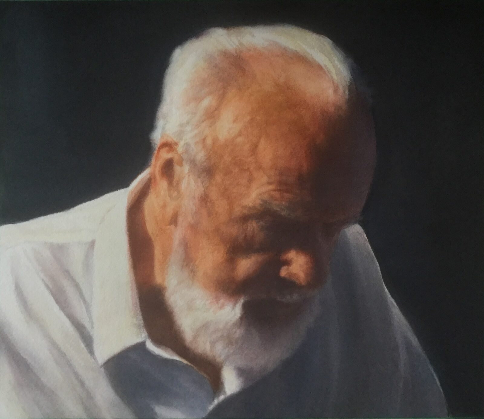 Paul Chizik - Uno, Portrait of an Art Dealer. Watercolour 14 x 12 inches