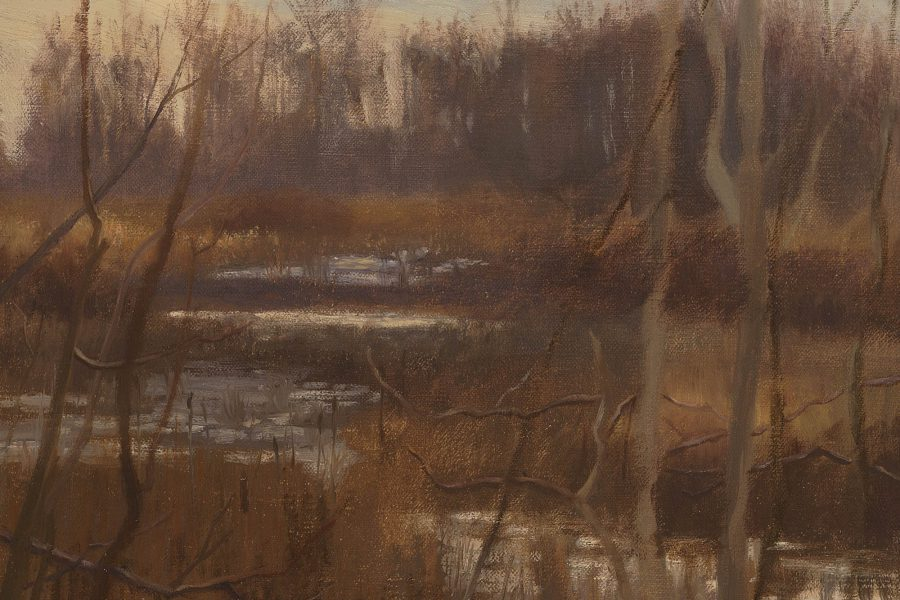 Paul Chizik - Autumn Marsh. Oil on Linen 10 x 12 inches