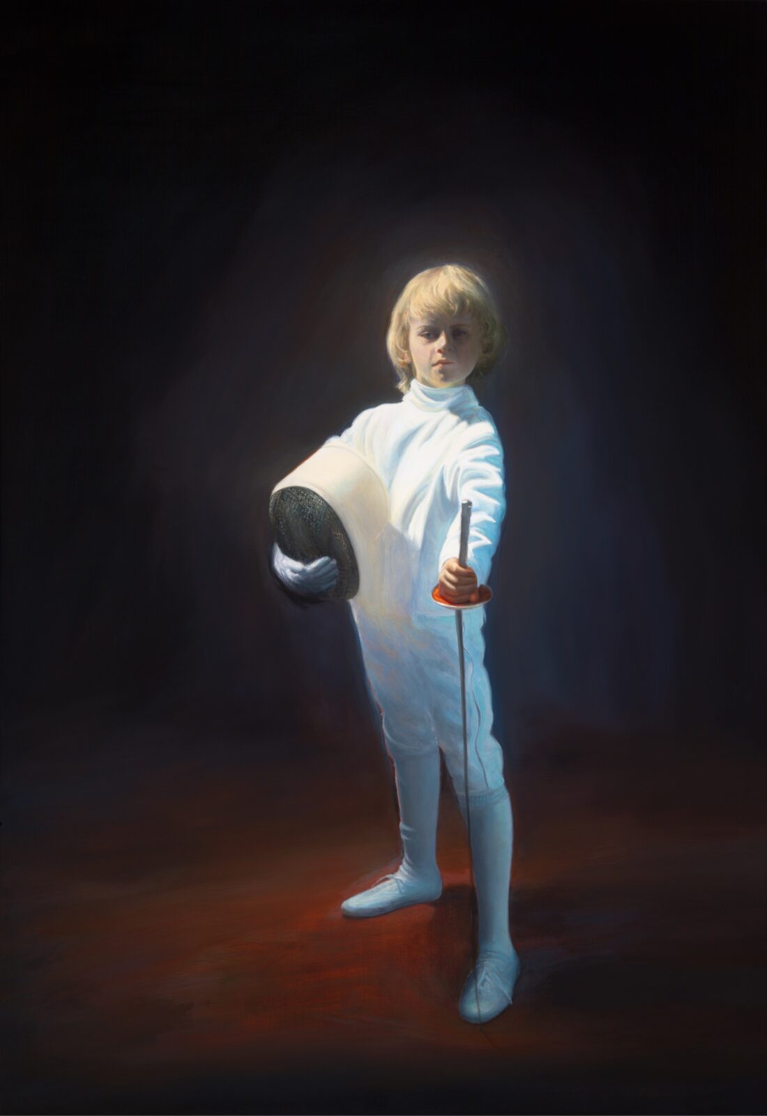 Paul Chizik - Boy in White. Oil on Linen 84 x 58 inches