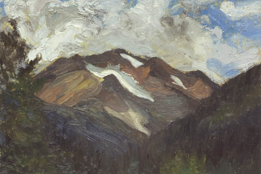 Paul Chizik - Along the Joffre Range. Oil on Board 8 x 10 inches