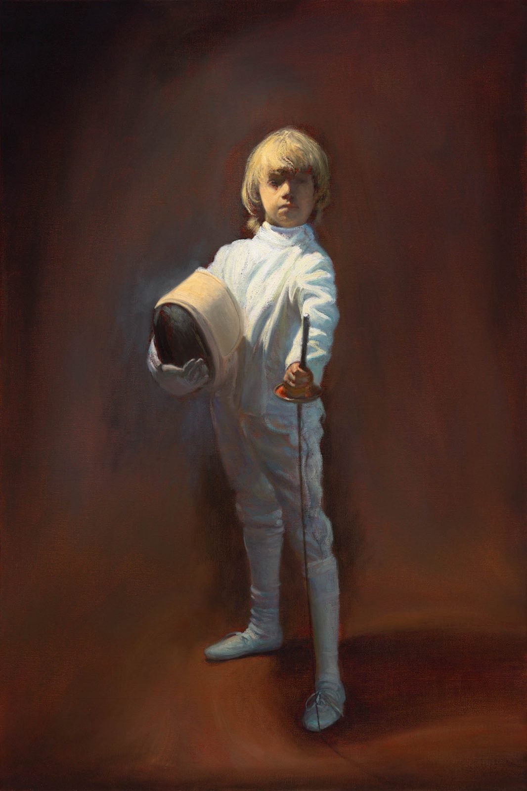 Paul Chizik - Boy in White - Study. Oil on Linen 24 x 36 inches