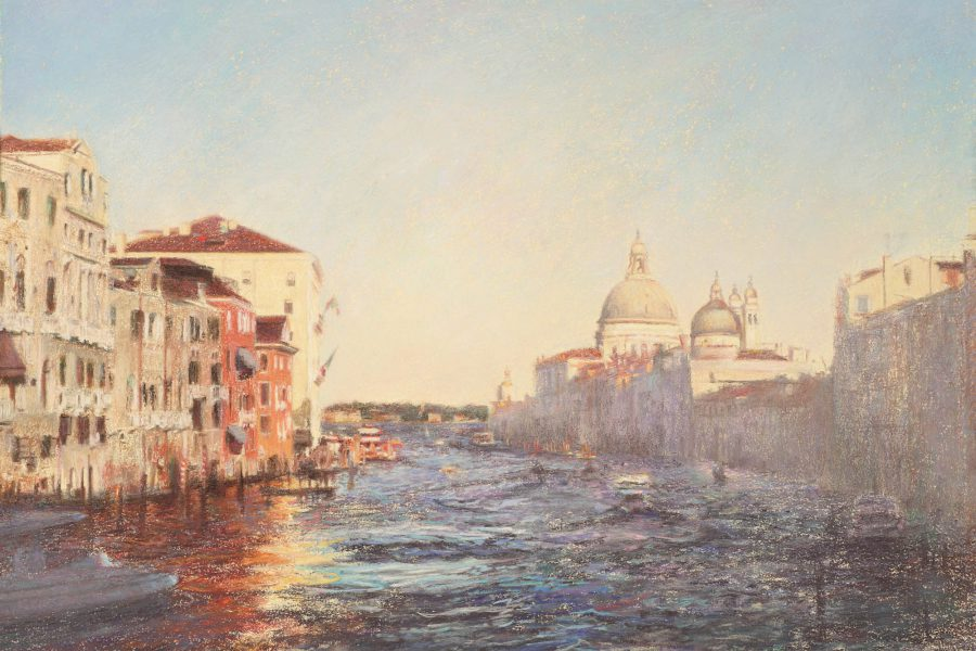 Paul Chizik - Grand Canal. Soft Pastel 18.5 x 26.5 inches
