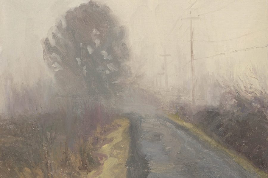 Paul Chizik - Half Light. Oil on Board 11.5 x 14.5 inches