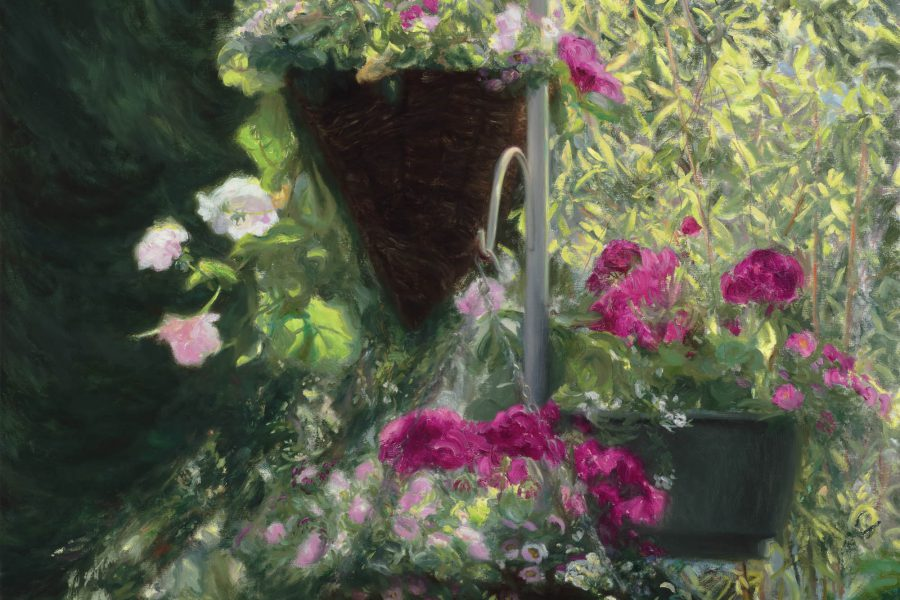 Paul Chizik - Hanging Baskets . Oil on Linen 30 x 32.5 inches