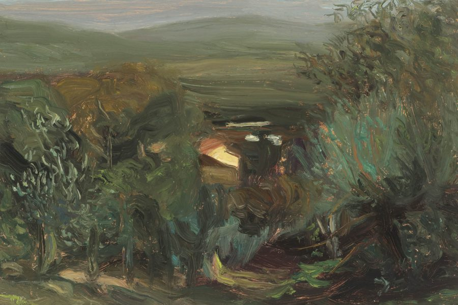Paul Chizik - Italian Landscape. Oil on Board 5 x 8 inches