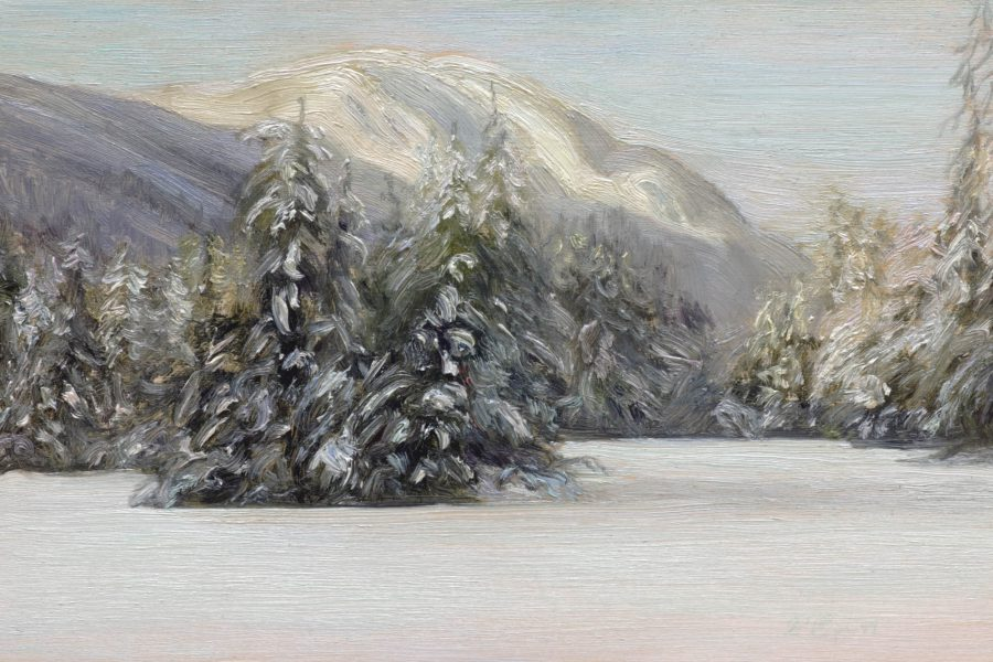 Paul Chizik - Lynn Peak Oil on Board 6 x 9 inches
