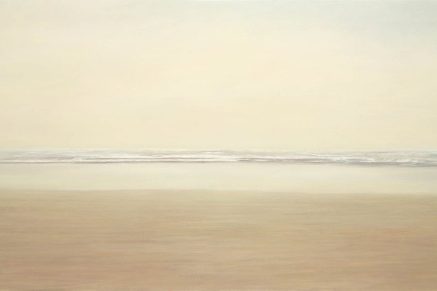 Paul Chizik - Open Sky, Distant Ocean, Suggested Horizon. Oil on Linen 43.5 x 76.5 inches
