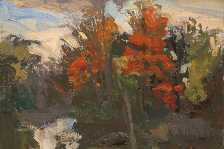 Paul Chizik - Red Ontario. Oil on Linen 10 x 12 inches