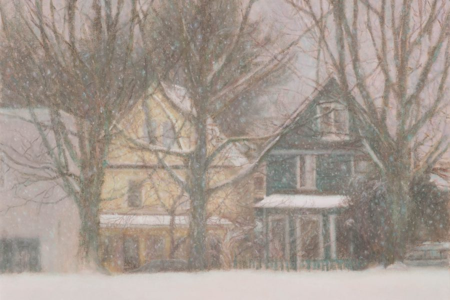Paul Chizik - The Yellow House. Oil on Linen 22 x 26 inches