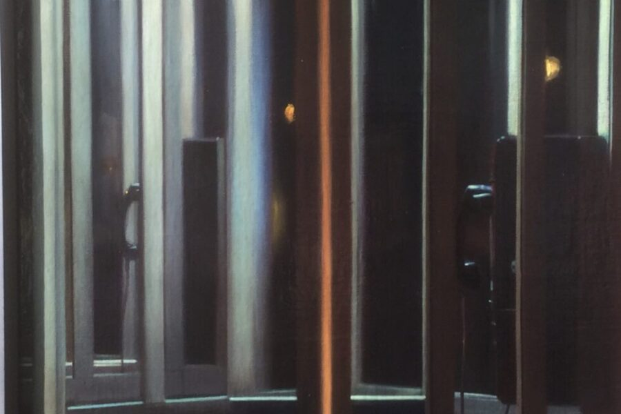 Paul Chizik - Transmit No.3. Oil on Linen 31 x 19 inches