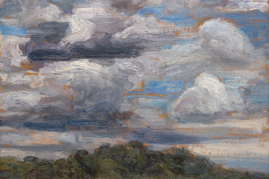 Paul Chizik - Westerly Clouds. Oil on Linen 11 x14 inches