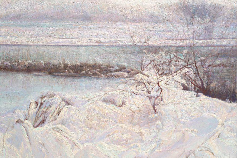 Paul Chizik - Western Winter. Western Light. Oil on Linen 30 x 31 inches