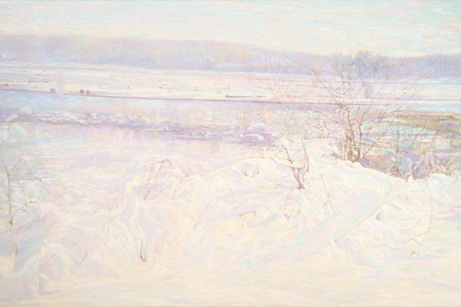Paul Chizik - Western Winter. Western Light. Oil on Linen 59 x 95 inches