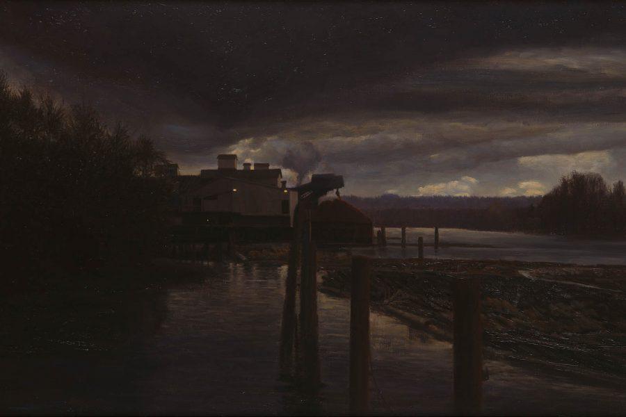 Paul Chizik - Weyerhaeuser. Oil on Linen 29 x 57 inches