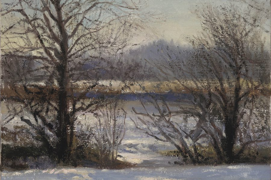 Paul Chizik - Winter Trees. Oil on Linen 10 x 12 inches