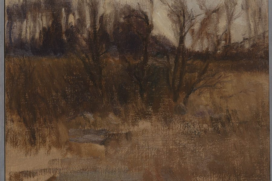 Paul Chizik - Brown Landscape. Oil on Linen 10 x 12 inches