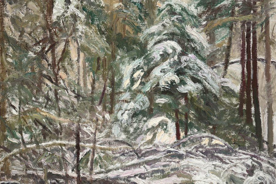 Paul Chizik - Canadian Winter. Oil on Linen 12 x 15 inches