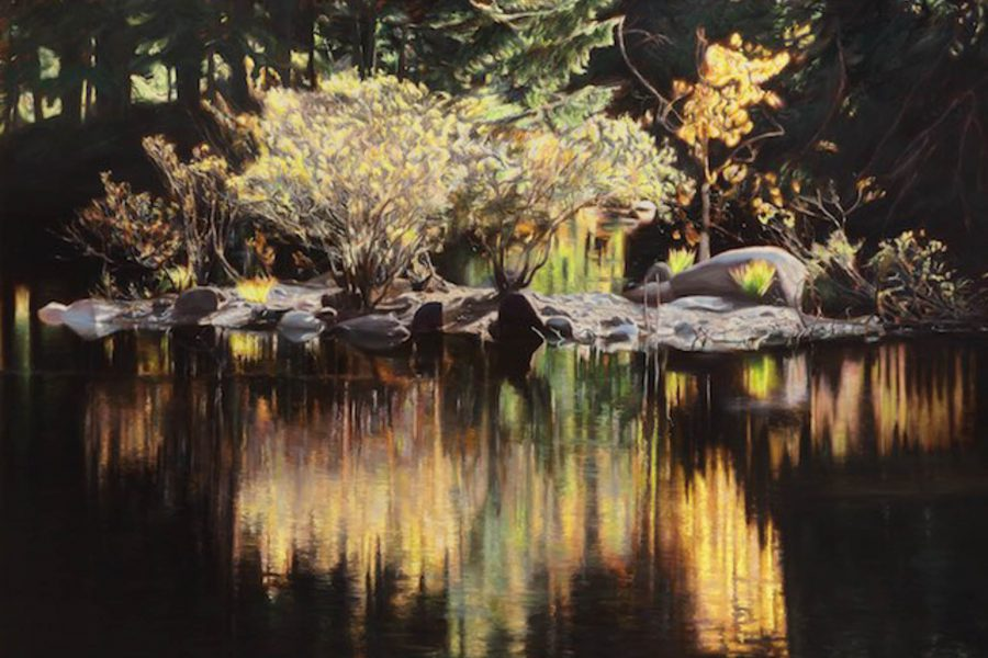 Paul Chizik - Dark Water, Rice Lake. Oil on Linen 54 x 68 inches