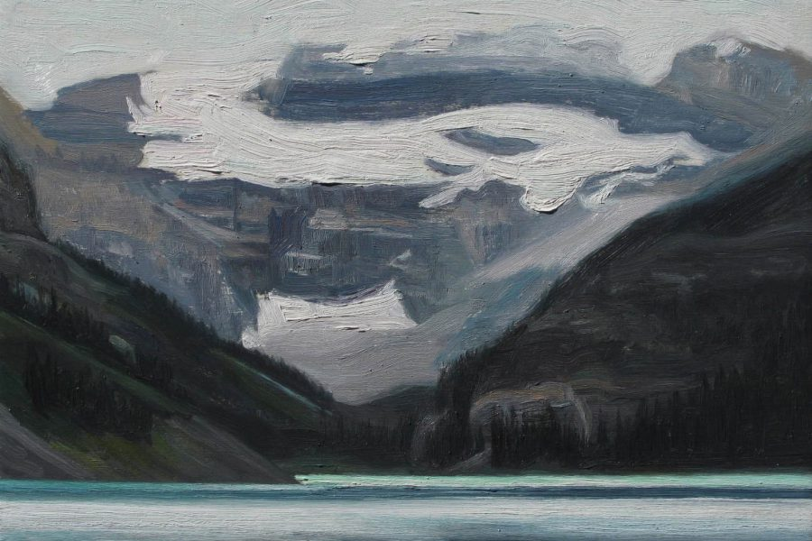 Paul Chizik - Lake Louise. Oil on Board 11 x 14 inches