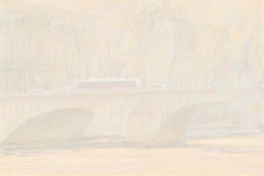 Paul Chizik - Mauve, Yellow and Green. Soft Pastel 26.75 x 34.75 inches