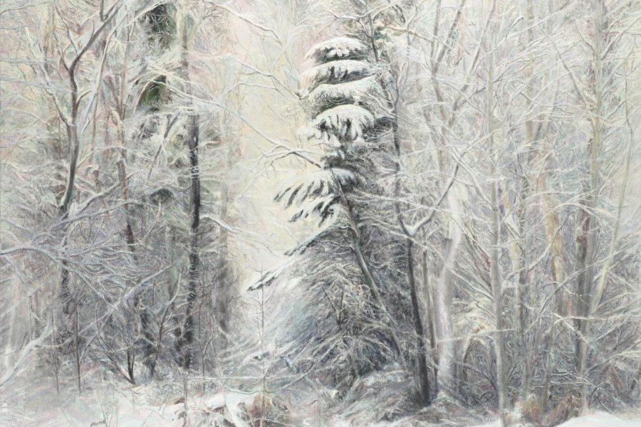 Paul Chizik - Minnekhada Winter. Oil on Linen 46 x 61 inches