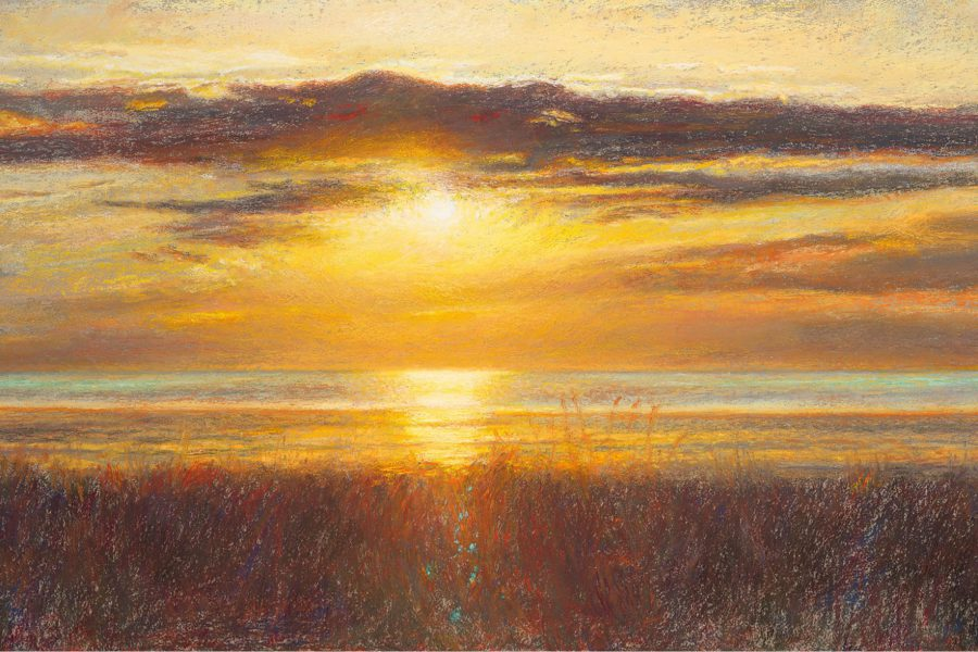 Paul Chizik - October Light. Soft Pastel 15 x 26 inches