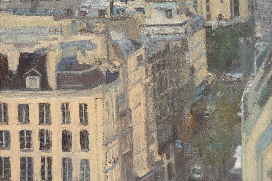 Paul Chizik - Paris Street Scene. Oil on Linen 10 x 12 inches