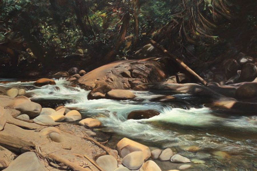 Paul Chizik - Seymour River. Oil on Linen 64 x 92 inches