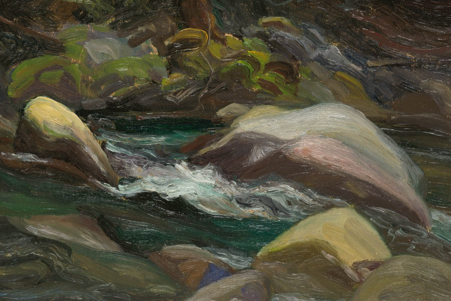 Paul Chizik - Short Rapids. Oil on Linen 6.25 x 8.5 inches