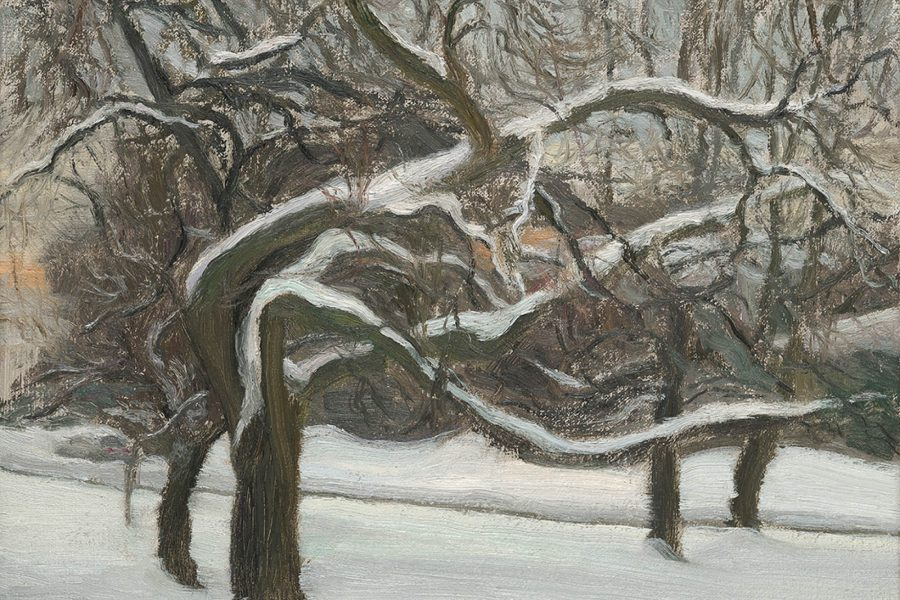 Paul Chizik - Snow. Oil on Linen 9 x 12 inches