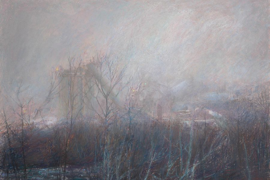 Paul Chizik - Stars in a Nebulous Vapour of Smoke. Soft Pastel 18 x 26 inches