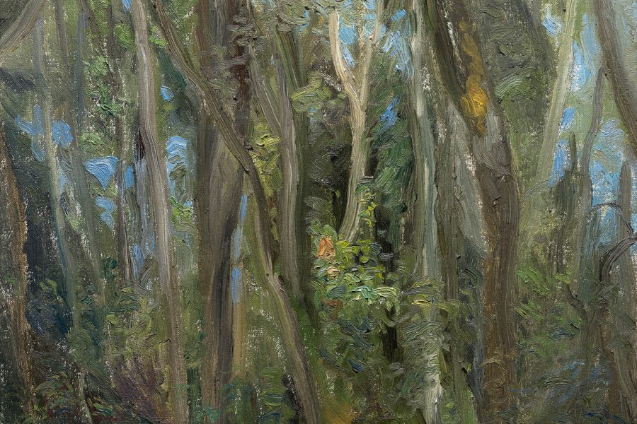 Paul Chizik - Summer Forest. Oil on Linen 14 x 16 inches