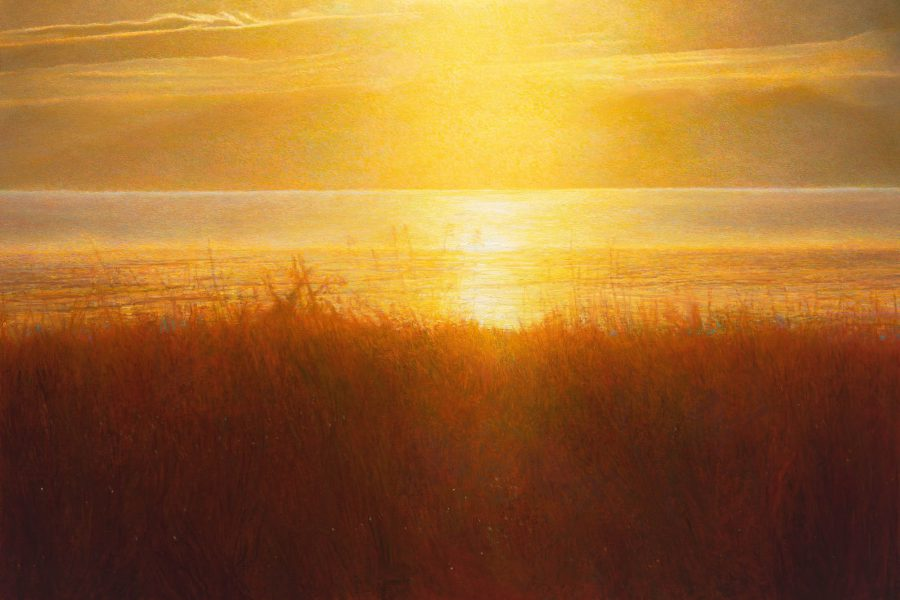 Paul Chizik - Transitions of Yellow and Orange. Oil on Linen 32 x 52 inches