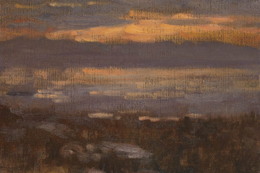 Paul Chizik - Western Light. Oil on Linen 9 x 12 inches