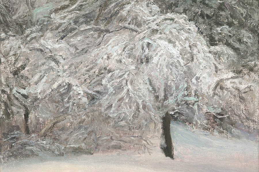 Paul Chizik - Winter Lace. Oil on Linen 9 x 12 inches