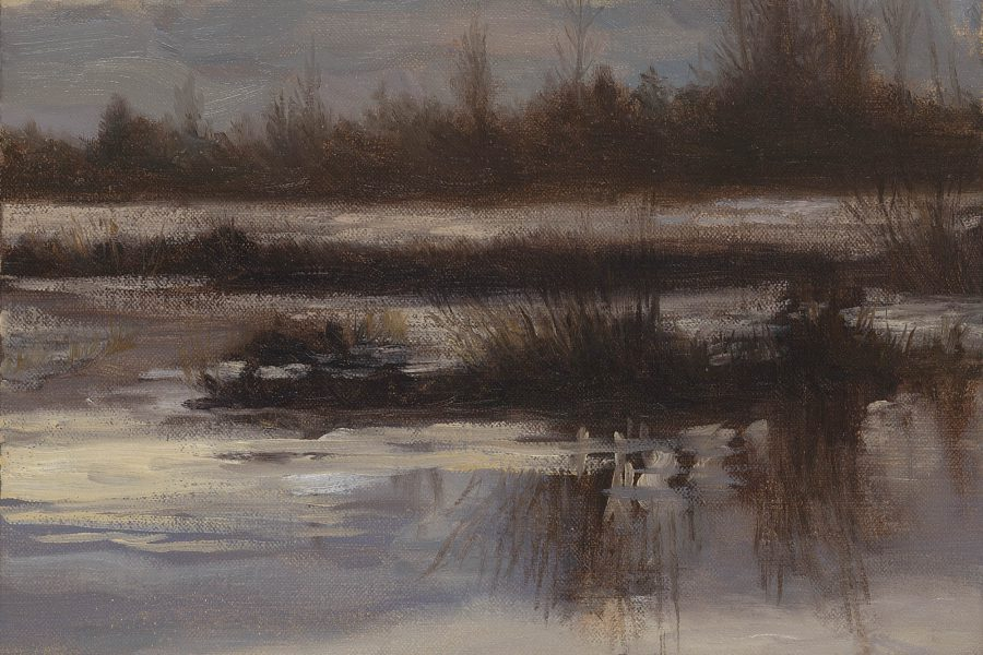 Paul Chizik - Winter Marsh. Oil on Linen 10 x 12 inches