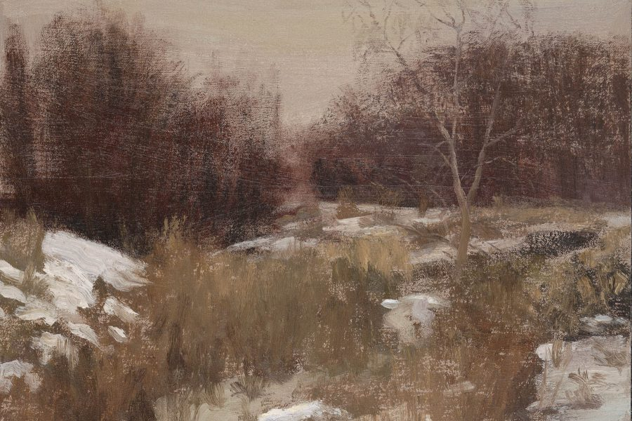 Paul Chizik - Winter. Oil on Linen 9 x 12 inches